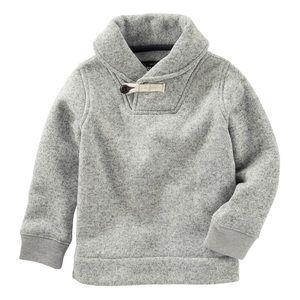 Osh Kosh B'Gosh 3T Boy's Gray Cowl Neck Sweater